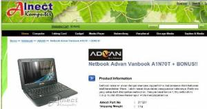 Netbook Advan Vanbook A1N70T